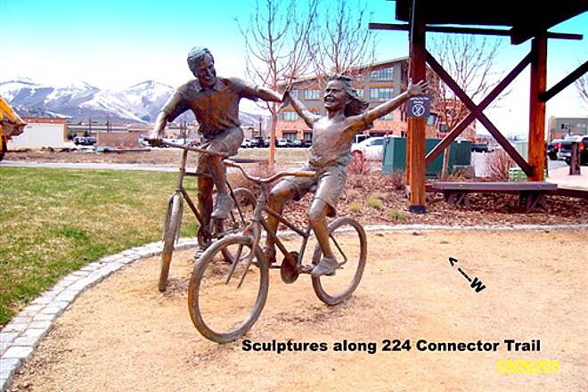 224 Connector Trail 224 Connector Trail Sculptures are just south of the Fieldhouse Trailhead