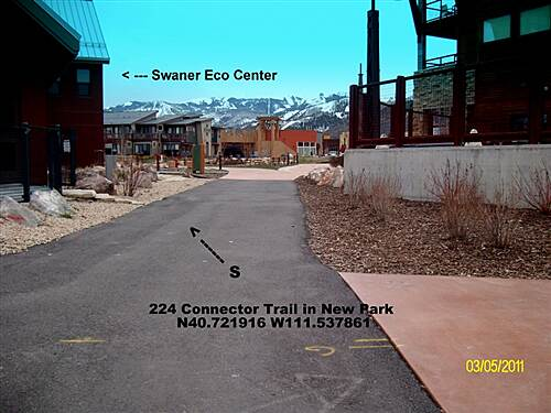 224 Connector Trail 224 Connector Trail Trail passes by the Utah State University Swaner Eco Center