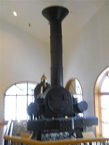 6 to 10 Trail System Inside the visitor center museum A Lafayette locomotive, used on this railroad.