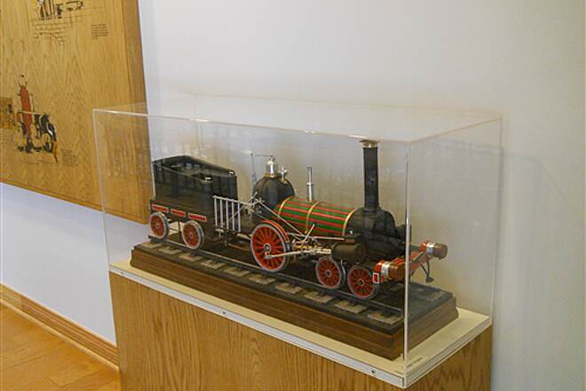 6 to 10 Trail System Inside the visitor center museum A locomotive model