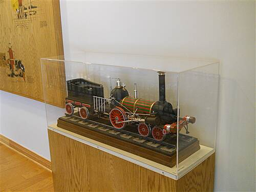 6 to 10 Trail Inside the visitor center museum A locomotive model