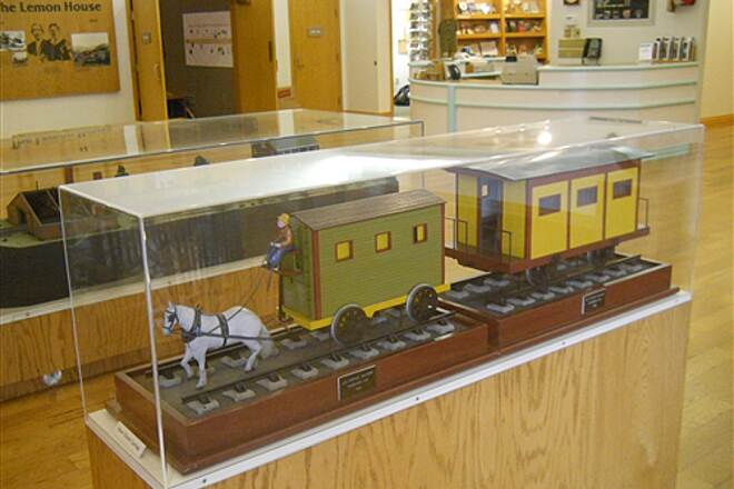 6 to 10 Trail Inside the visitor center museum A horse drawn railroad model