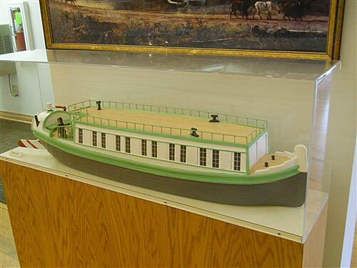 6 to 10 Trail Inside the visitor center museum A canal boat model