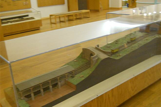 6 to 10 Trail Inside the visitor center museum A profile model