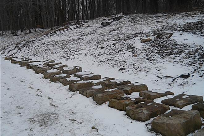 6 to 10 Trail Incline plane road bed stone sleepers