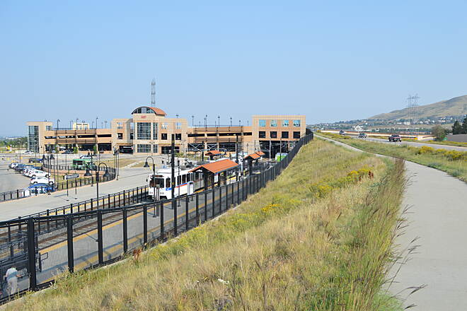 6th Avenue Trail End of the W Line in Golden Colorado Jefferson Country Transportation Hub