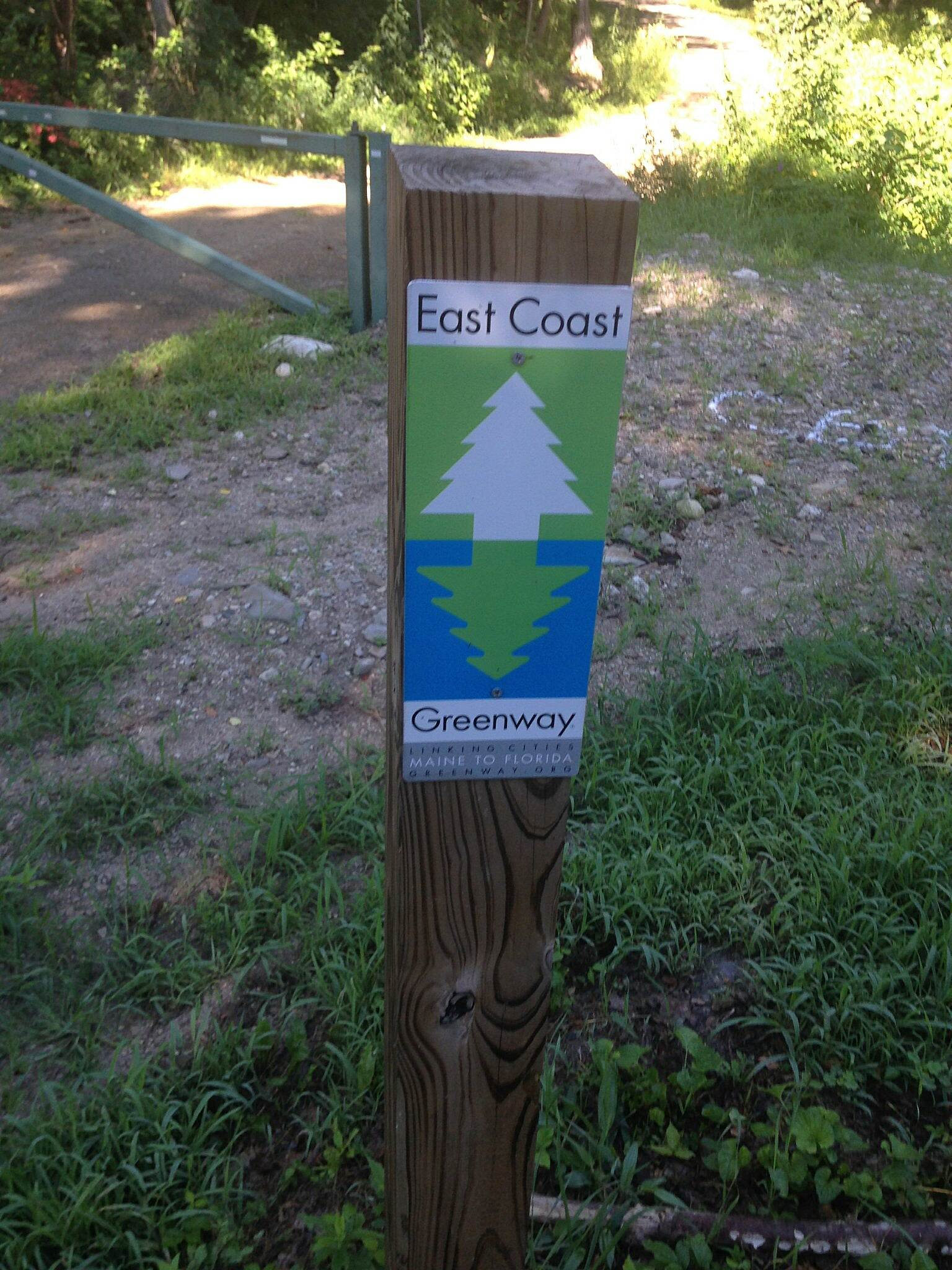 Air Line State Park Trail East Coast Greenway marker