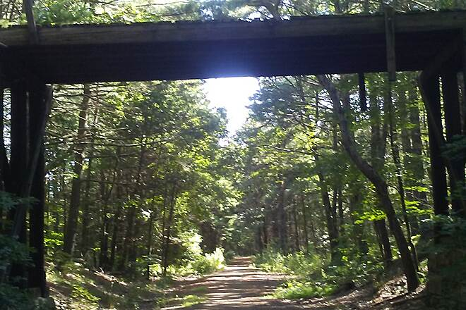 Air Line State Park Trail Cattle crossing bridge Thompson, Ct