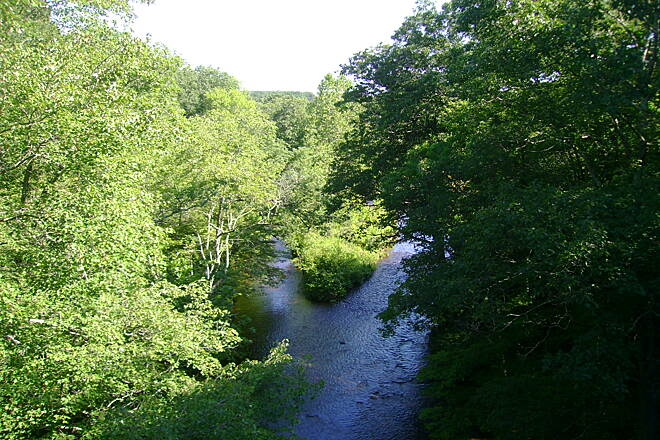 Air Line State Park Trail Colchester trail View of the Blackledge River from the Colchester trail