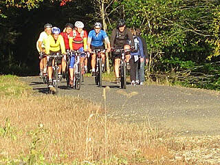Air Line State Park Trail Cross Lyman Viaduct,Colchester Crossing the Lyman Viaduct in Colchester.