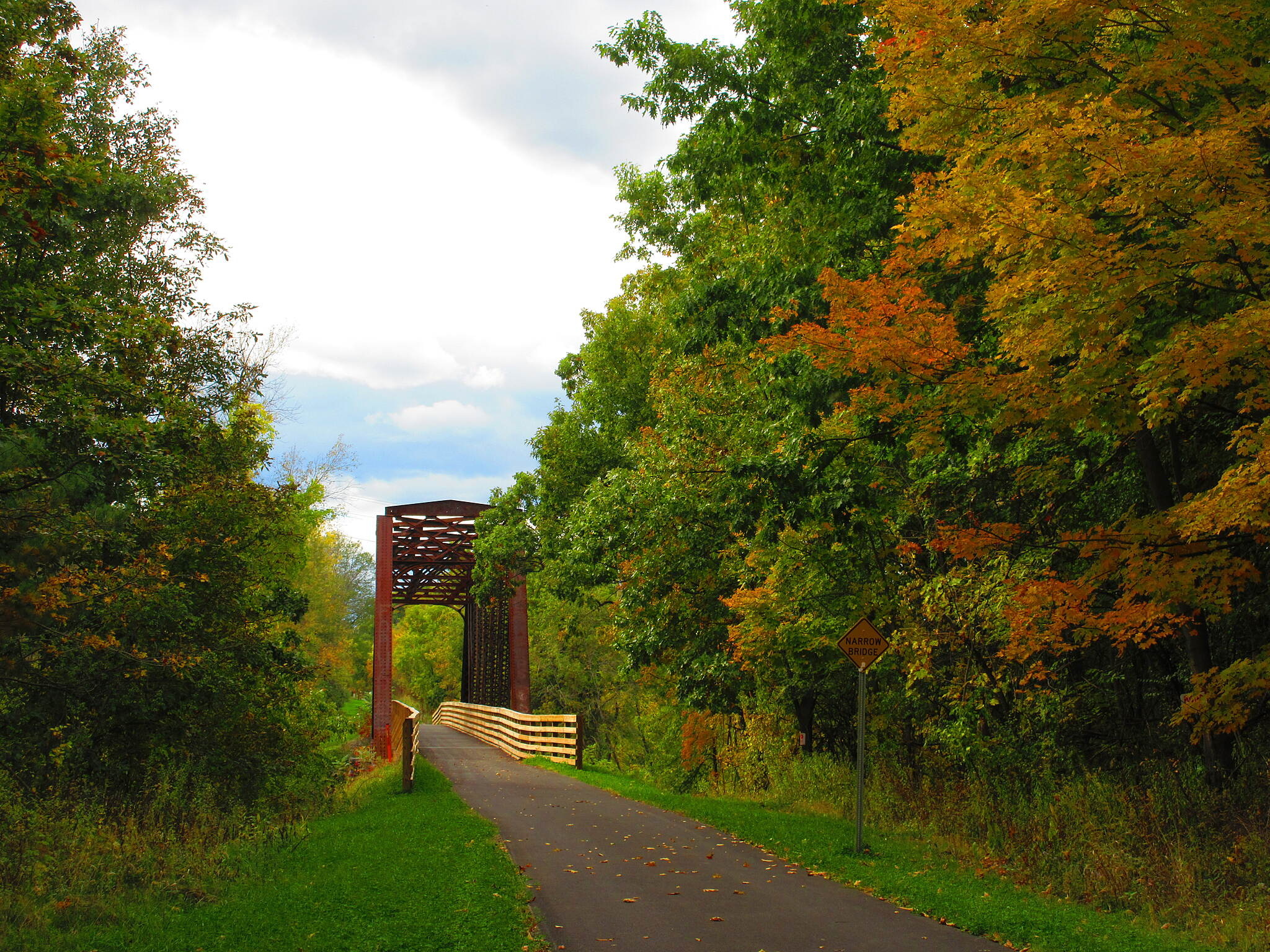 Albany County Rail Trail Colors along the trail