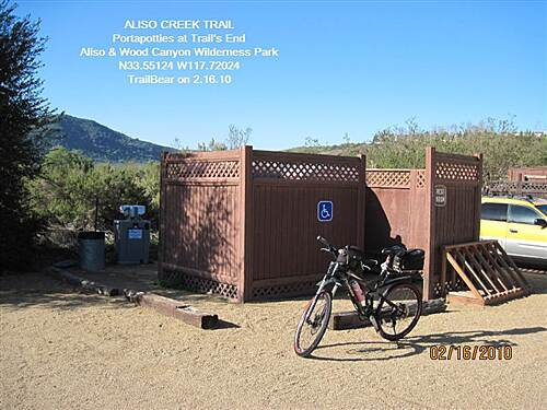 Aliso Creek Riding and Hiking Trail ALISO CREEK TRAIL This is a full service trailhead.  Parking, potties and water.