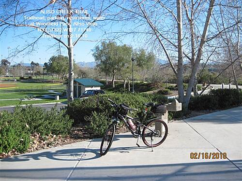 Aliso Creek Riding and Hiking Trail ALISO CREEK TRAIL Woodfield is a full service trailhead.