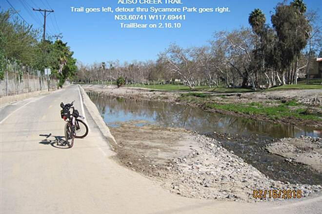 Aliso Creek Riding and Hiking Trail ALISO CREEK TRAIL Trail left, park right