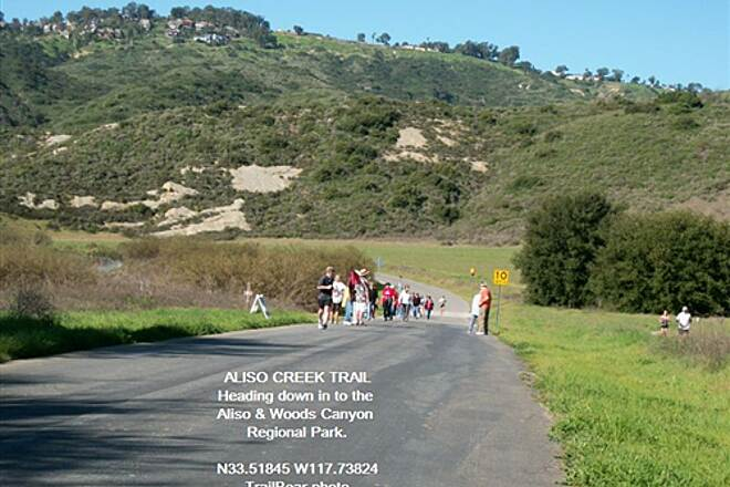Aliso Creek Riding and Hiking Trail ALISO CREEK TRAIL Lot and lots of people on this road on a weekend.