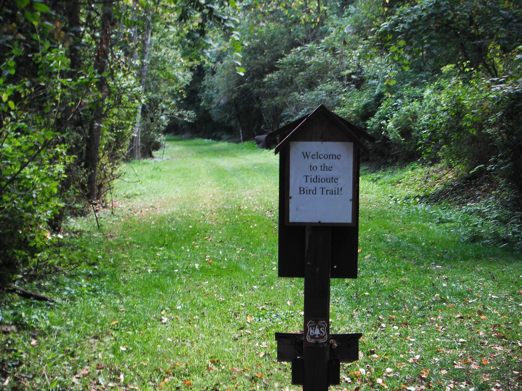 Allegheny National Forest - Tidioute Riverside RecTrek Trail  Tidioute Trek and Rec Trail AKA the Tidioute Bird Trail.  Most of the trail is in the Allegheny National Forest.