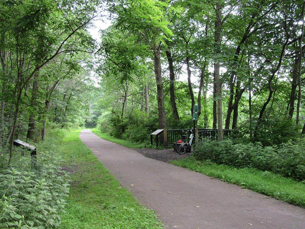 Allegheny River Trail Along the trail Along the trail between Emlenton and Rockland Tunnel, July 2015