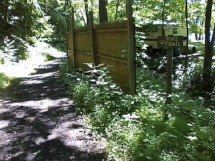 Allegheny River Trail Detour around houses The trail is a single lane crushed stone path thru the woods for quarter mile