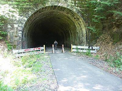 Allegheny River Trail Tunnel Way cool tunnel - bring your lights !