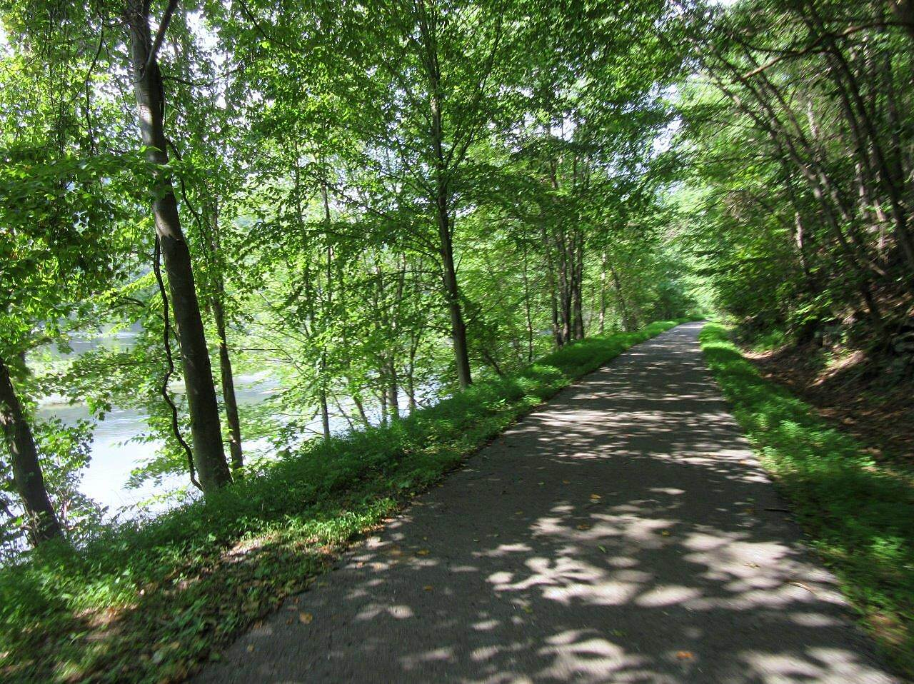 Allegheny River Trail Nice and shady a lot of the trail is shaded for those hot summer days