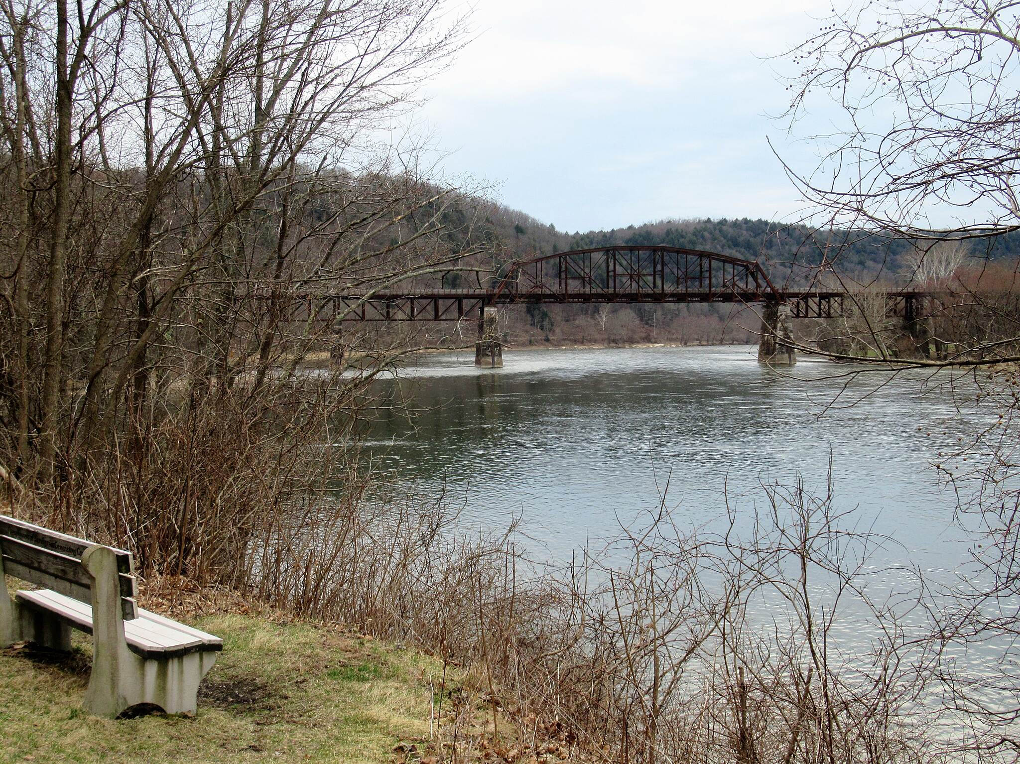Allegheny River Trail View of the Belmar Bridge  Approx 5 miles South of Franklin you will see the Belmar Bridge