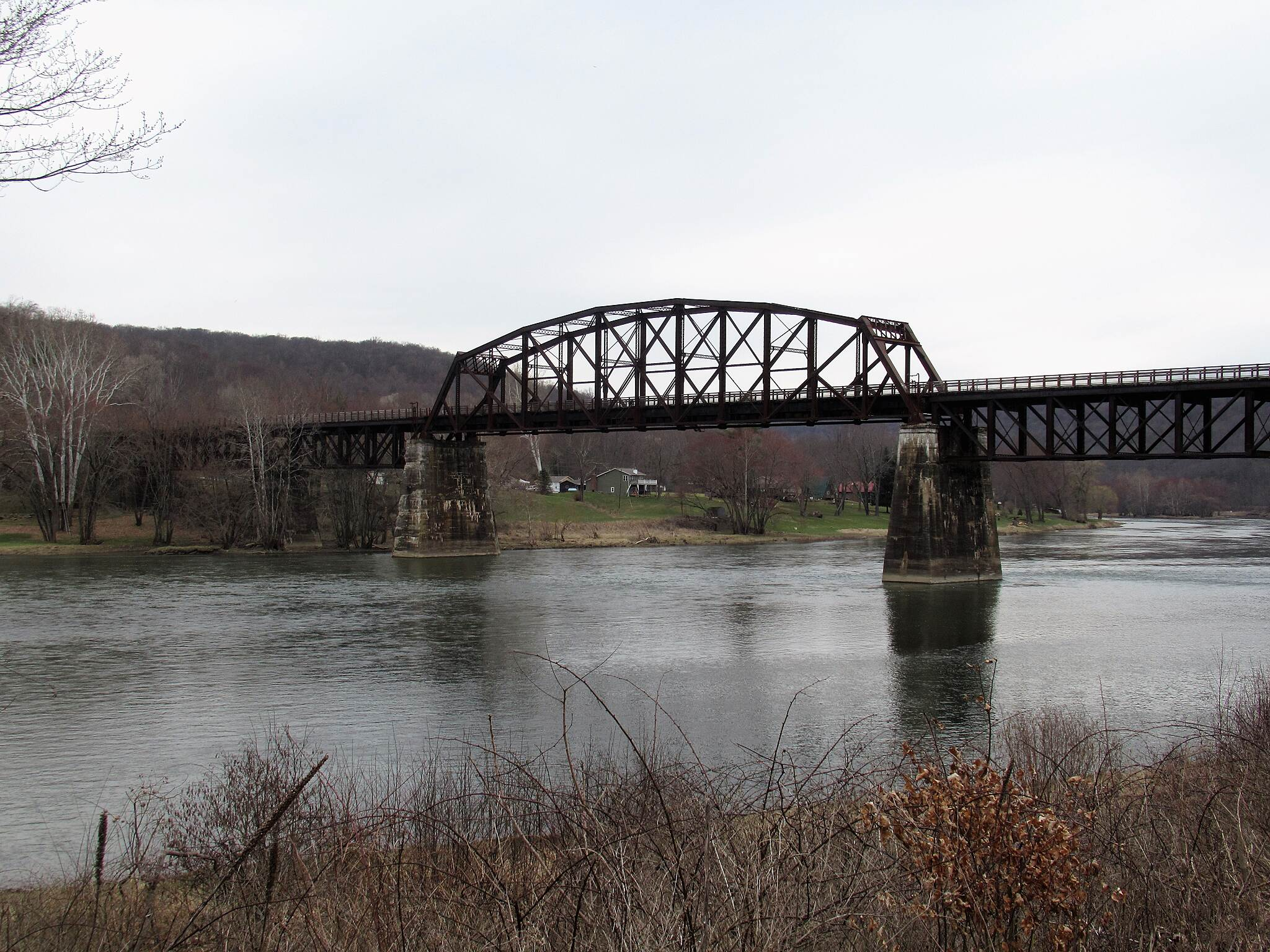 Allegheny River Trail View of the Belmar Bridge  View of the historic Belmar Bridge.  This bridge is part of the Sandy Creek Trail .