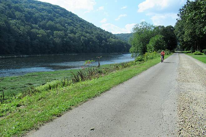 Allegheny River Trail Cyclist on the trail-September 2019 September 2019 a cyclist on the trail
