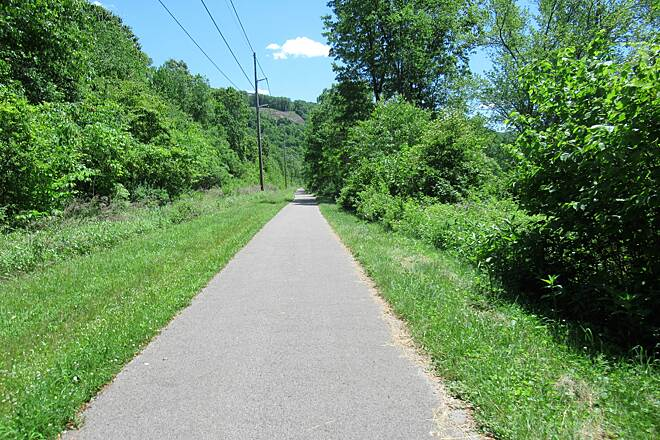 Allegheny River Trail Just South of Franklin  A few miles South of Franklin traveling South