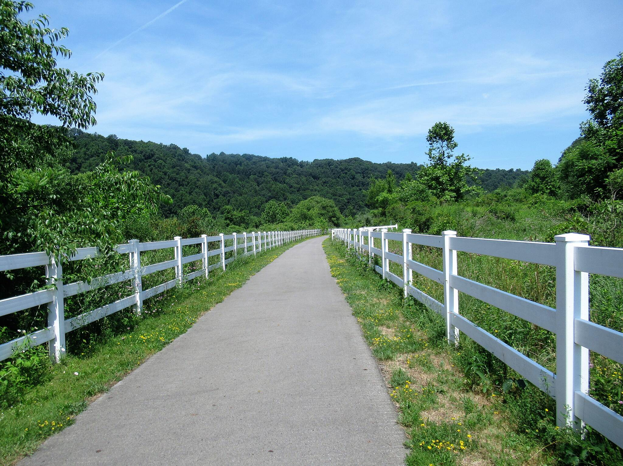 Allegheny River Trail Heading North out of Emlenton  Traveling North just out of Emlenton.