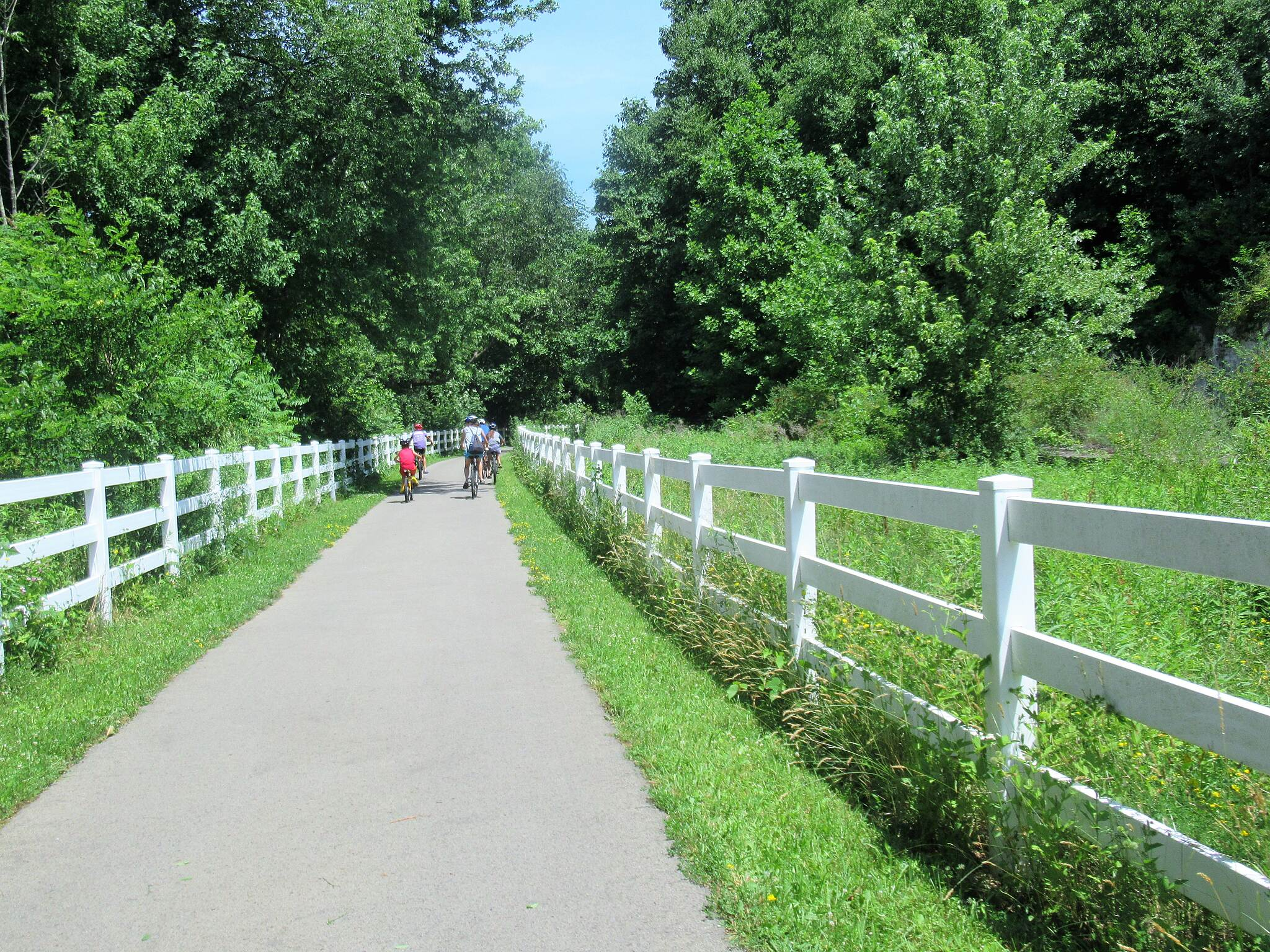 Allegheny River Trail Cyclists  Cyclists along the trail traveling North out of Emlenton