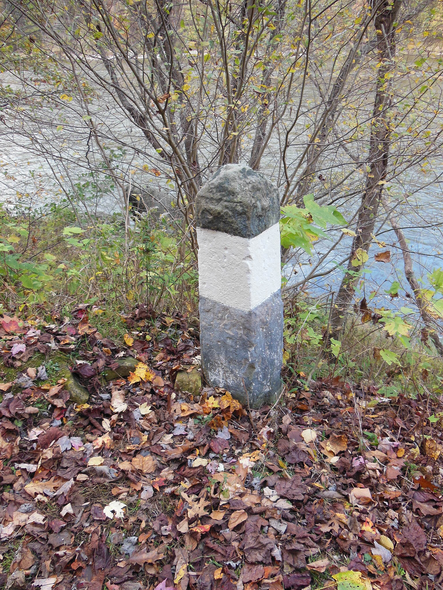 Allegheny River Trail Mile marker