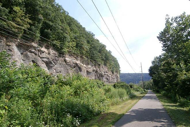 Allegheny River Trail Trail.. Just outside of the Franklin PA parking area heading towards Belmar