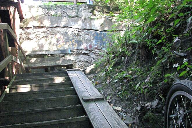 Allegheny River Trail steps bike staircase
