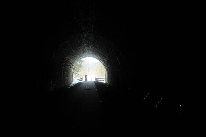 Allegheny River Trail Rockland Tunnel Rockland Tunnel-March 2015
