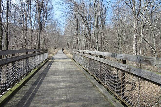 Allegheny River Trail Trail Along the trail - APril 2015