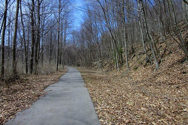 Allegheny River Trail Trail - APril 2015 Along the trail - APril 2015