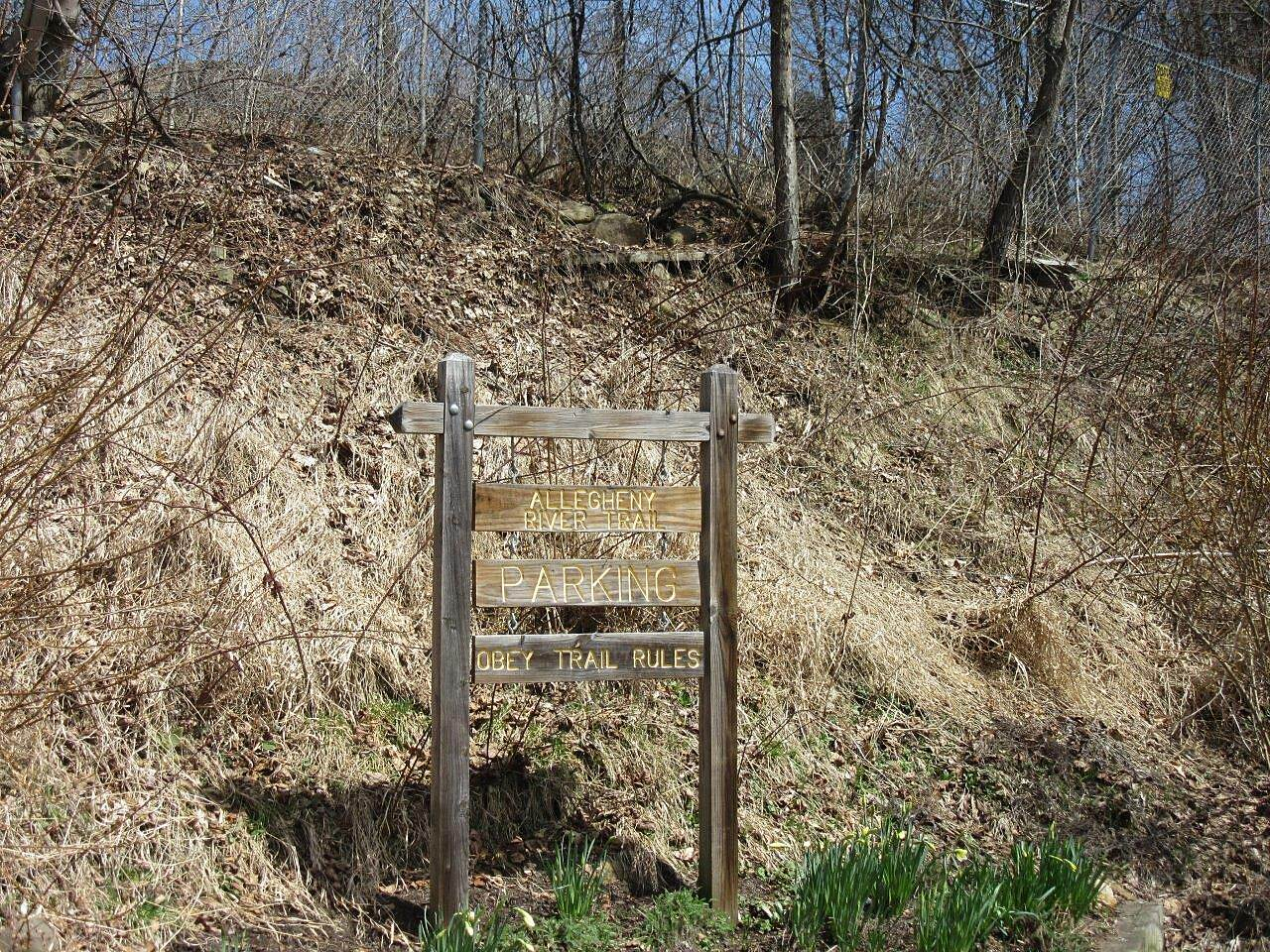Allegheny River Trail Emlenton Parking Emlenton Parking area-April 2015