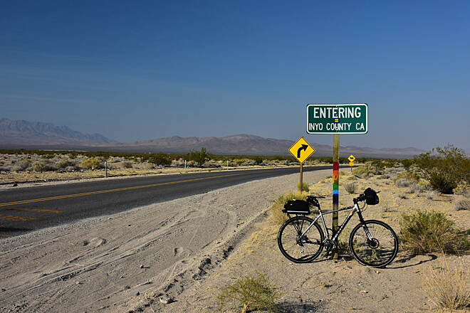 Amargosa River Trail Nevada California State Line On the way to Tecopa and the Amargosa Trail
