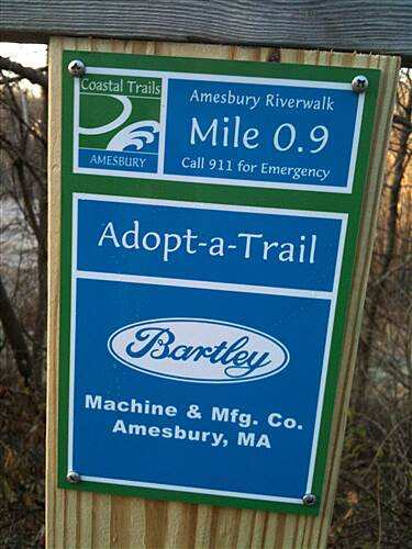 Amesbury Riverwalk Amesbury Riverwalk Mile sponsorship markers