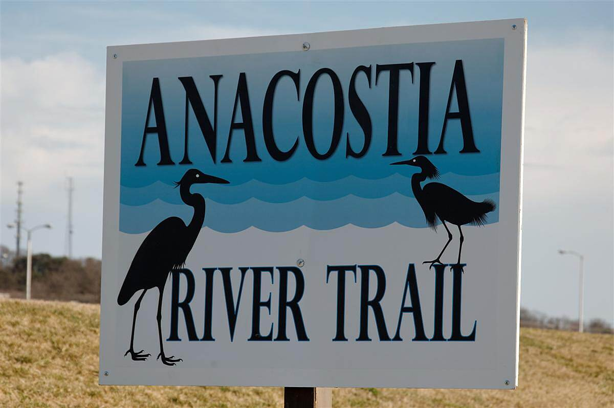 Anacostia River Trail [MD] Trail Sign