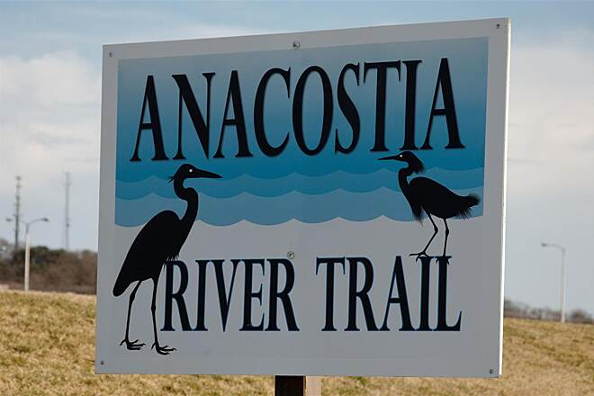Anacostia River Trail Trail Sign