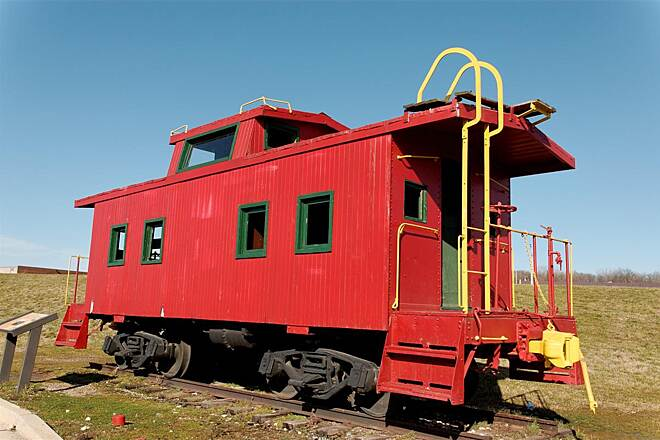 Anacostia River Trail Caboose at The Start of ART The trail starts at the caboose!