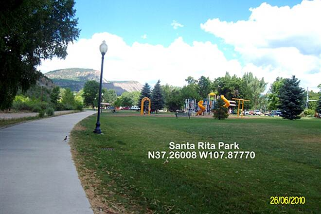 Animas River Trail Animas River Trail Santa Rita Park, looking north.  Facilities, Tourist Info., Parking