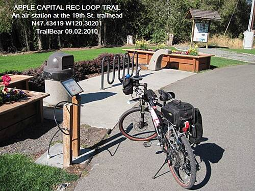 Apple Capital Recreation Loop Trail APPLE CAPITAL RECREATION LOOP TRAIL Nice touch - an air station at the trailhead
