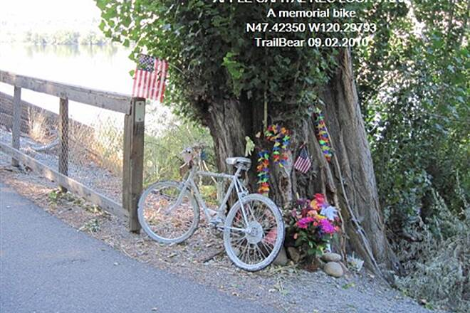 Apple Capital Recreation Loop Trail APPLE CAPITAL RECREATION LOOP TRAIL A memorial bike - there is a story here