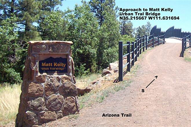 Arizona Trail (Flagstaff) Arizona Trail Flagstaff Approach to the Matt Kelly Urban trail Bridge