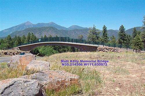 Arizona Trail (Flagstaff) Arizona Trail Flagstaff Matt Kelly Urban Trail Bridge (2007)