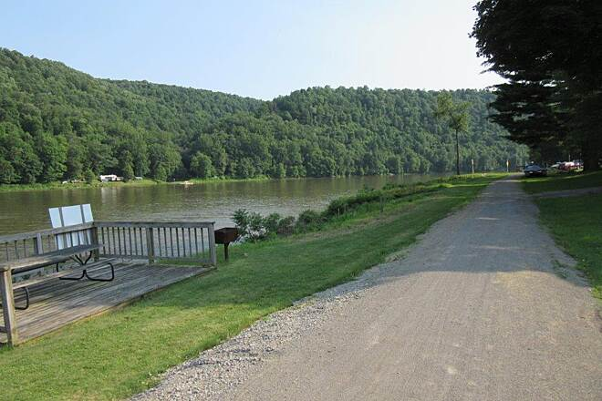 Armstrong Trail Allegheny River Allegheny River at the Campground where