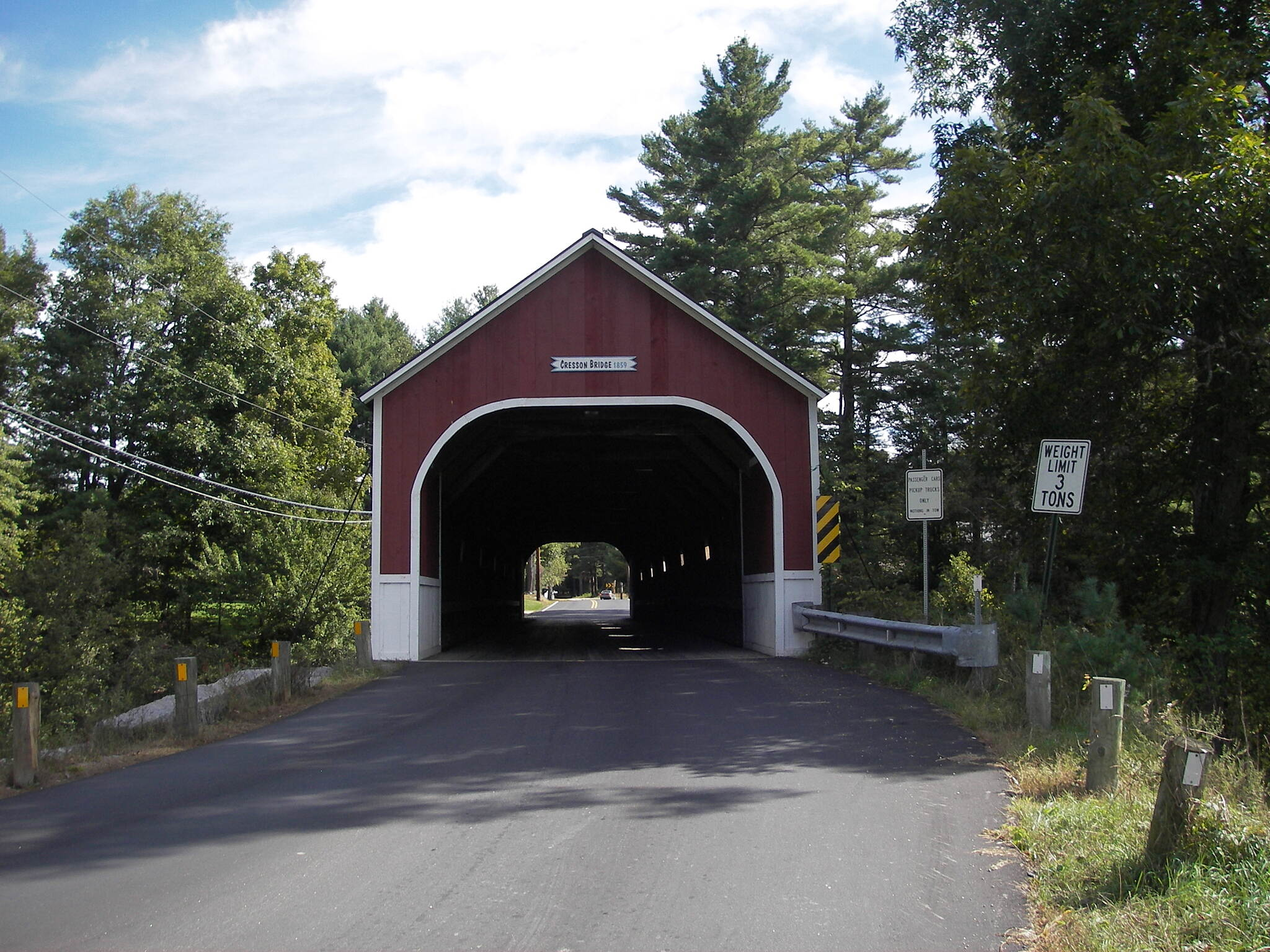 Ashuelot Recreational Rail Trail another covered bridge near trail This bridge is part of a loop on roads that include at least 6 bridges.