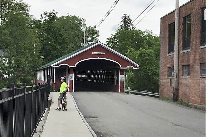 Ashuelot Recreational Rail Trail Thomas Covered Bridge This is off trail but is in the town of Ashuelot, a good place to sit by the river for lunch.